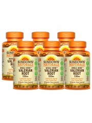 Sundown Naturals Valerian Root 530mg, 100 caps, Pack of 6