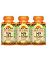 Sundown Naturals Vegetarian Omega 3-6-9, 50 sgls, Pack of 3