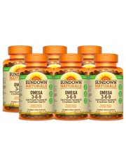 Sundown Naturals Vegetarian Omega 3-6-9, 50 sgls, Pack of 6
