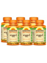 Sundown Naturals Vitamin C 1000mg, 133 tabs, Pack of 6