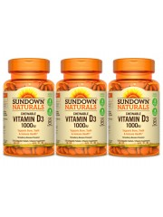 Sundown Naturals Vitamin D3 1000iu, 120 Chewable Strawberry-Banana tab ...