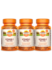 Sundown Naturals Vitamin E 400IU, 100 sgls, pack of 3