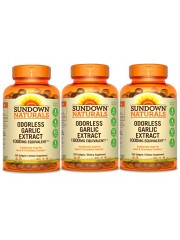 Sundown Naturals Odorless Garlic Extract 1000mg equivalent, 250 caps,  ...