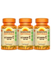 Sundown Naturals Vitamin C Time Release 500mg, 90 caps, Pack of 3