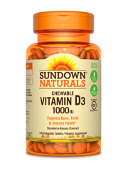 Sundown Naturals Vitamin D3, 120 Chewable tabs