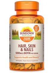 Sundown Naturals Hair, Skin & Nails, 120 Caplets