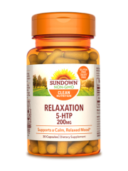 Sundown Naturals Relaxation 5-HTP 200mg, 30 Caps