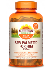 Sundown Naturals Saw Palmetto for Him 450mg, 250 caps