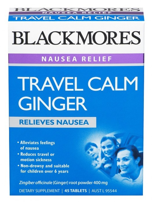 Blackmores Travel Calm Ginger, 45 tabs