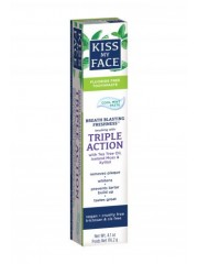 Kiss My Face Triple Action Cool Mint Gel Fluoride-Free Toothpaste, 4.5 ...