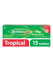 Berocca Performance Vitamin B Effervescent, Tropical, 15 Tablets, Pack ...