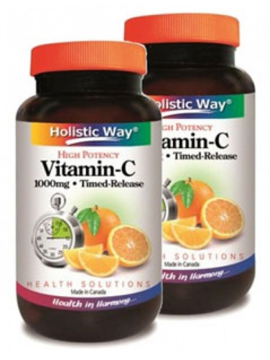 Holistic Way Vitamin C Timed-Released 1000mg, 100 Caplets, Pack of 2