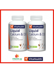 VitaHealth Liquid Calcium & D3, 60 sgls, Pack of 2