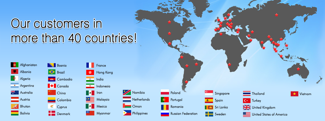 02 Our Customers in 40 Countries