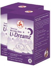 Three Legs Wu Ling Shen U-Dreamz, 60 VegICaps, Pack of 2