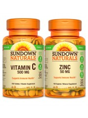 Immune Health: Sundown Naturals Vitamin C & Zinc