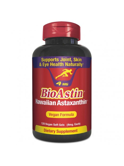 Nutrex Hawaii BioAstin Hawaiian Astaxanthin VEGAN 4mg, 120 caps