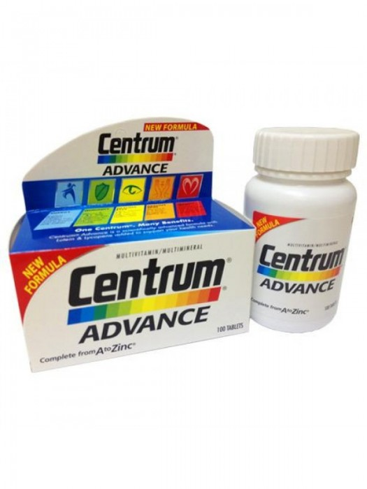 Centrum Advance Multivitamin, 100 tablets, Pack of 2
