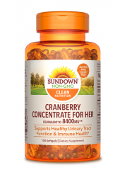 Sundown Naturals Cranberry Concentrate for Her 150 sgls