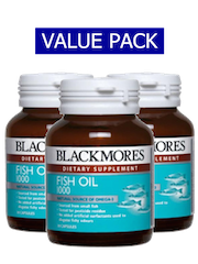 Blackmores Fish Oil 1000, 120 capsules X 3 Value Pack
