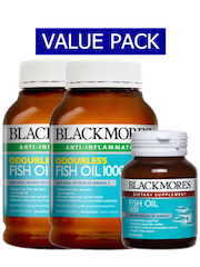 Blackmores Odourless Fish Oil (Amb) 1000, 400 capsules X 2 Plus Fish O ...