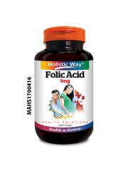 Holistic Way Folic Acid 1mg, 100 tabs, Pack of 2