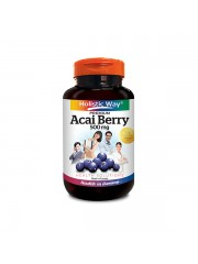 Holistic Way Acai Berry 500 mg, 60 Caps, Pack of 2