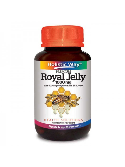 Holistic Way Royal Jelly 1000 mg, 30 Sgls, Pack of 2