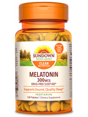 Sundown Naturals Melatonin 300mcg 120 tabs