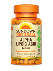 Sundown Naturals Alpha Lipoic Acid 600mg, 60 caps