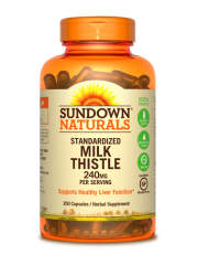 Sundown Naturals Milk Thistle 240mg, 250 caps
