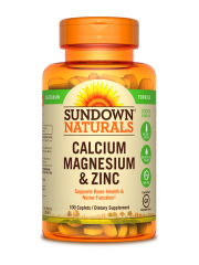 Sundown Naturals Calcium Magnesium and Zinc, 100 Caplets