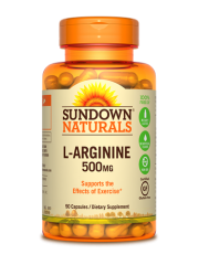 Sundown Naturals L-Arginine 500mg, 90 caps