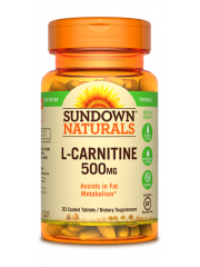 Sundown Naturals L-Carnitine 500mg, 30 tabs