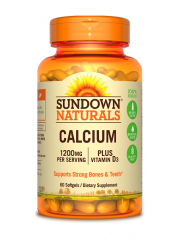 Sundown Naturals Calcium 1200mg+Vitamin D3, 60 sgls