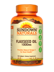 Sundown Naturals Flaxseed Oil 1000mg, 100 sgls