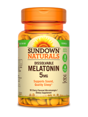 Sundown Naturals Dissolvable Melatonin 5mg, 90 Microlozenges