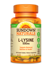 Sundown Naturals L-Lysine 500mg, 100 coated tabs