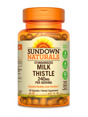 Sundown Naturals Milk Thistle 240mg, 60 caps