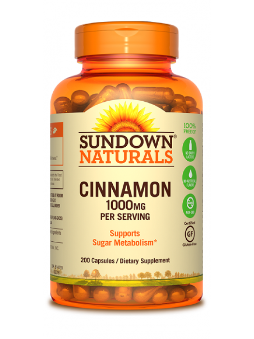 Sundown Naturals Cinnamon 1000mg, 200 caps