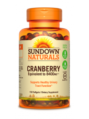 Sundown Naturals Cranberry+Vitamin D3, 150 sgls