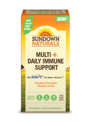 Sundown Naturals, Multi +Daily Immune Support, 60 softgels