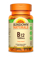 Sundown Naturals B12, High Potency, Time Release, 1000mcg, 120 Tablets ...