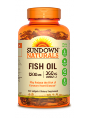 Sundown Naturals Fish Oil 1200mg, 100 Softgels