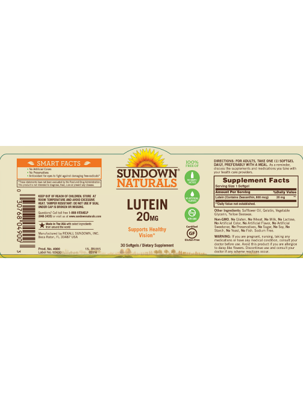Eye Health: StaZen Astaxanthin & Sundown Naturals Lutein