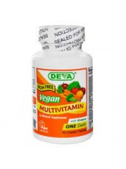 DEVA Vegan Multivitamin without Iron, 90 Tabs