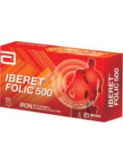 Abbott, Iberet Folic 500, 60 Tablets, Pack of 2