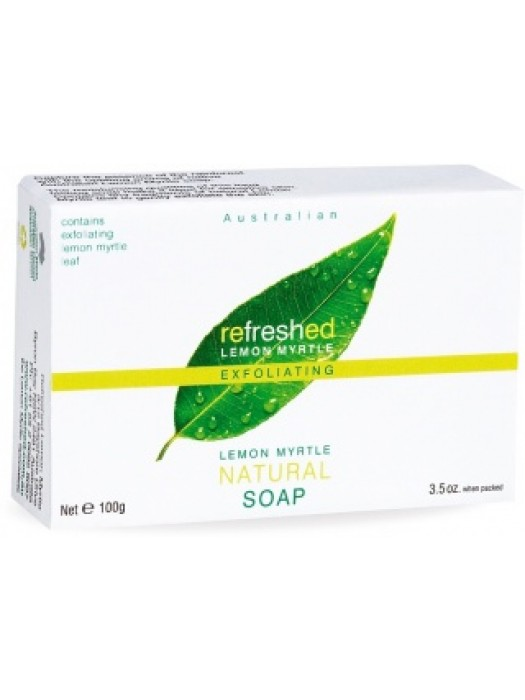 Tea Tree Therapy Refreshed Lemon Myrtle, Exfoliating soap, 3.5 oz., Pack of 3