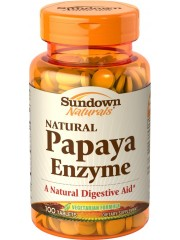 Sundown Naturals Papaya Enzyme Chewable, 100 Tablets