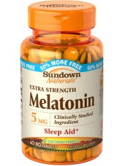 Sundown Naturals Melatonin 5 mg, 90 tablets - Pack of 6